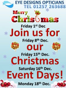 christmas,event,opticians,chorley,eyecare,eyes