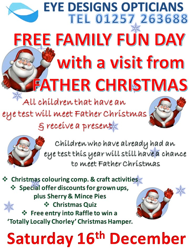 family fun day,free,event,eyecare,christmas,eyes,children